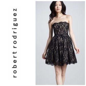 Robert Rodriguez/Neiman Marcus Lace Black Dress